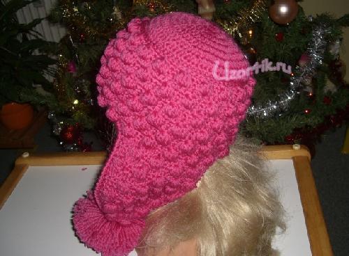 Вязаная шапочка - вид сбоку