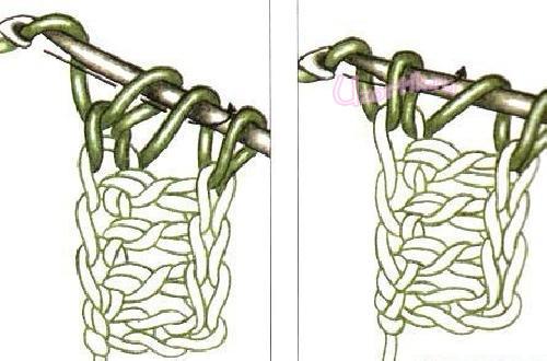 Наборный ряд из столбиков с накидом